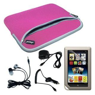 Pink Dual Pocket Carrying Case + Home Wall Charger + Car