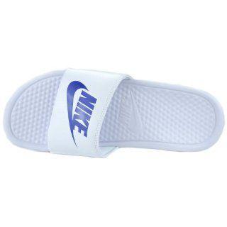 Benassi JDI Mens Slides Slippers White/Varsity Royal White 343880 102