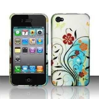 Apple Iphone 4, 4s Phone Protector Hard Cover Case Garden