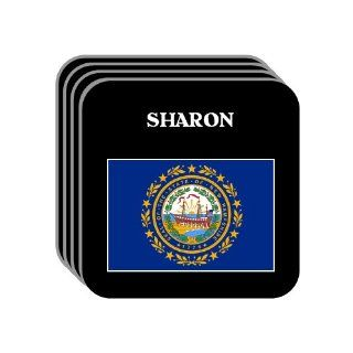 US State Flag   SHARON, New Hampshire (NH) Set of 4 Mini