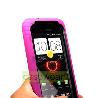 INEX DOUBLE LAYER HARD CASE GEL COVER FOR HTC DROID INCREDIBLE 4G LTE