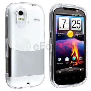 For HTC Amaze 4G Clear Crystal Hard Shell Case Cover Screen Protector