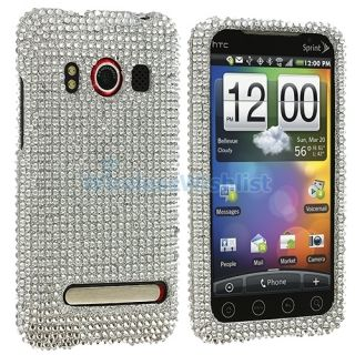 Silver Bling Case Cover Accessory for HTC EVO 4G Phone