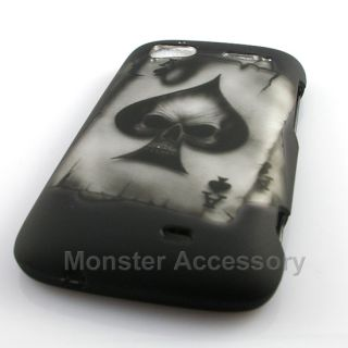 Ace Skull Rubberized Hard Case Cover HTC Sensation 4G