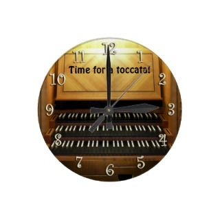 Time to practice organists wall clock