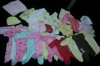 Month Baby Girl Clothes 27 Item Lot Winter Spring