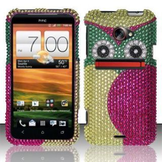 For HTC EVO 4G LTE Crystal Diamond BLING Hard Case Phone Cover Green