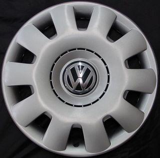 01 11 Volkswagen Jetta Golf 15 61538 Hubcap 10 Slot Wheel Cover