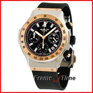 Hublot Super B Automatic 18K Rose Pink Gold SS Steel Chrono Watch 1921