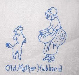 Vintage Nursery Rhyme Embroidery Pattern Quilt Linens