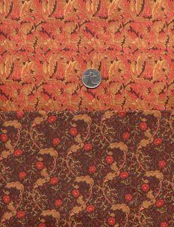 Sale RARE Rose Hubble Art Nouveau William Morris Fabrics Fat Qtr X2