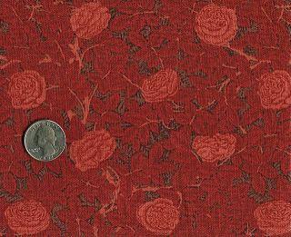 Rose Hubble William Morris Fabric Red Roses