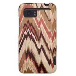 Hipster Girly Brown Red Colorful Zig Zag Pattern HTC Vivid Cover