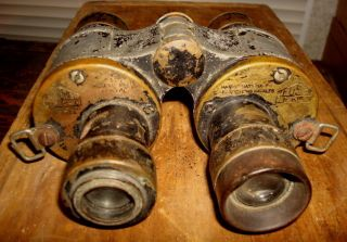 NAVAL MARINE FRENCH BINOCULARS HUET PARIS MODELE 19284 type 1931 OLD