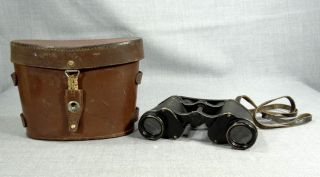 WW2 German Army Binoculars French Huet Paris Trinotix 8x30 Optics w