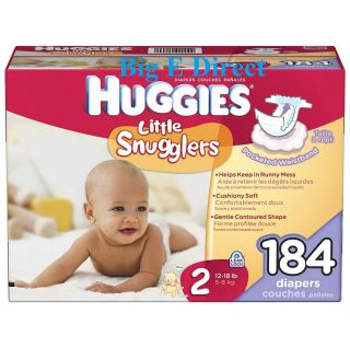 Huggies Little Snugglers Unisex Baby Diapers Newborn Size 1 2 Up to 18