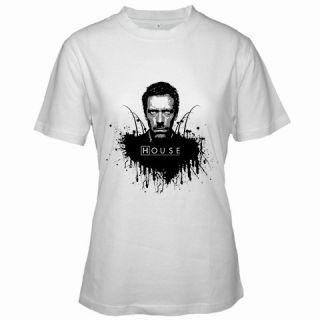 Dr House Hugh Laurie MD Custom Women White T Shirt