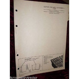 John Deere P 107 Gyramor Rotary Cutter OEM Parts Manual: John Deere