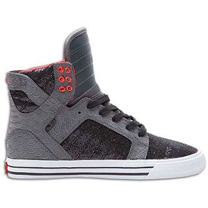 Supra Skytop   Womens   Skate   Shoes   Grey/Black/Red/White