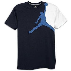 Jordan Jumbo Jumpman S/S T Shirt   Mens   Obsidian/French Blue/White