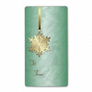 Gold Foil Gift Tag Stickers Custom Return Address Labels