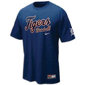 Nike Practice T Shirt 11   Mens   Baseball   Fan Gear   Tigers   Navy