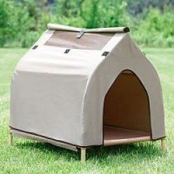 Hugz Cool Cot House with Cooling Pet Bed Large Dog New