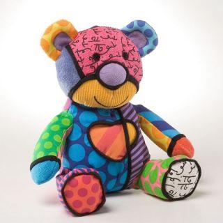 Romero Britto Teddy Bear Cub Tallulah Stuffed Animal Pop Art Doll 8in