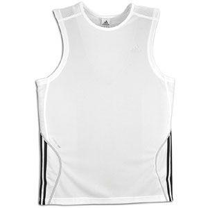 adidas Response Sleeveless T Shirt   Mens   White/Black/Light Onyx
