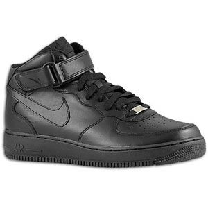 Nike Air Force 1 Mid   Mens   Basketball   Shoes   Black/Black