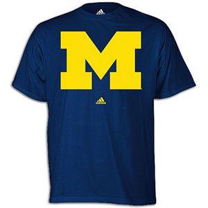 adidas College Logo T Shirt   Mens   Basketball   Fan Gear   Michigan