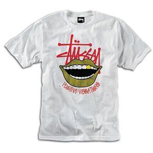 Stussy Smile T Shirt   Mens   Skate   Clothing   White/Red