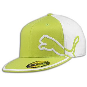 PUMA Monoline 210 Fitted Cap   Mens   Casual   Clothing   Lime/White