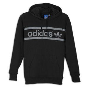 adidas Originals Heritage Logo Pullover Hoodie   Mens   Black/Tech