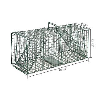 Green Live Animal Trap Racoon Skunk Cat Traps Humane Capture 26 Plus