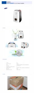 Samsung Shu K5500SPI LED 5 5 Liter Air Cleaner Humidifier White