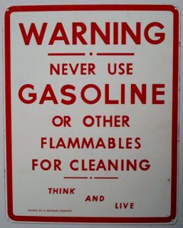 Vinage Pair of Humble Oil Gasoline and Warrany Meal Signs