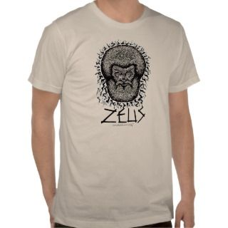 Greek God Zeus graphic art cool t shirt