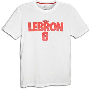 Nike Lebron 6 Pattern T Shirt   Mens   Basketball   Clothing   White