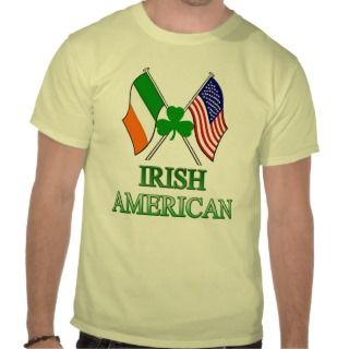 Irish American, Shamrock on Flags St Patricks Day Tshirt