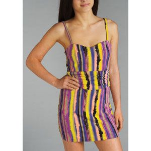 Stussy Horizon Stripe Dress Womens Skate Clothing Multi