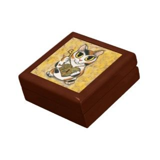 Steampunk Valentine Cat Heart Locket Key Gift Box