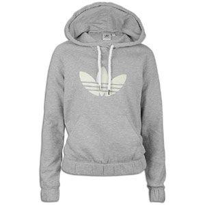 adidas Originals Collegiate Fleece Hoodie   Womens   Medium Grey