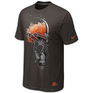 Nike NFL Tri Blend Helmet T Shirt   Mens   Cleveland Browns   Brown