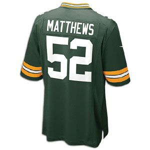 Nike NFL Game Day Jersey   Mens   Clay Matthews   Green Bay Packers
