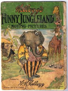 Vintage Kelloggs Cereal Funny Jungleland Moving Pictures 1909