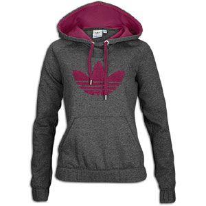 adidas Originals Collegiate Fleece Hoodie   Womens   Dark Grey