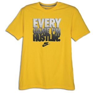 Nike Graphic T Shirt   Mens   Casual   Clothing   Yellow/Grey