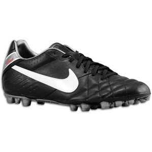 Nike Tiempo Mystic IV AG   Mens   Black/Challenge Red/Metallic Cool