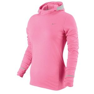 Nike Dri Fit Soft Hand Hoodie   Womens   Polarized Pink/Strata Grey